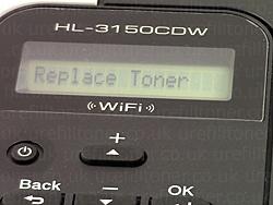 ทำไม Brother เปลี่ยนตลับใหม่แล้วยังขึ้น Replace Toner - หมึก