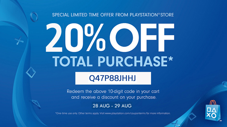 PlayStation Store Thai - แจก Discount Code ลด 20% - ขาย PSN